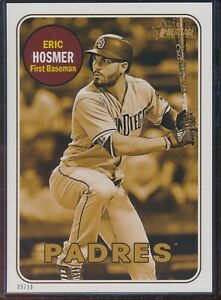 2018 Topps Heritage High Number Eric Hosmer 5x7 Gold Action Image /10