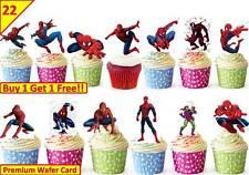 44 Spiderman Comestibles Cup Cake Toppers Premium Oblea Fiesta De Cumpleaños * stand Up *