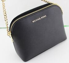 NEW AUTHENTIC MICHAEL KORS CINDY BLACK LG LARGE DOME CROSSBODY WOMEN'S HANDBAG