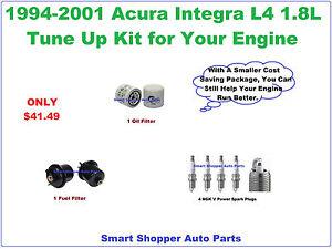 1994-2001 Acura Integra L4 1.8L Tune Up Kit: Spark Plug, Oil & Fuel Filter