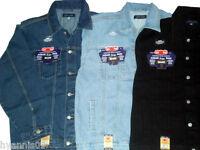 Mens  Denim Jeans jacket  Stonewash lightwash black casual jacket S to 4XL tops