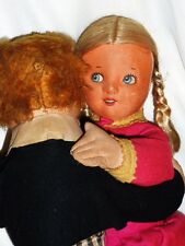 Antique Dean's Dancing Boy and Girl Cloth Dolls