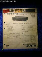 Sony Service Manual STR AV270X Receiver (#1908)