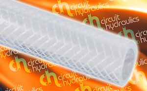 """2"""" 50mm Clear Braided Flexible Reinforced PVC Hose Pipe for Water Air Oil"""