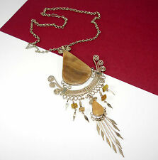 Statement Peruvian Alpaca Silver Necklace - Stunning Ethnic Boho Jewellery