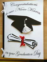 Personalised Hand made Graduation Card A5 Male/ Female
