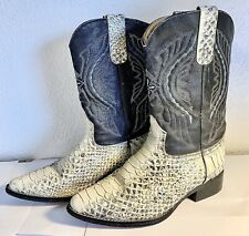 Vintage Reptile Brand Snakeskin Cowboy Boots Size 7 Men's