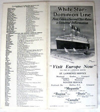 White Star Line / Dominion Line -- 1923 Brochure of Interiors & Deck Plans !