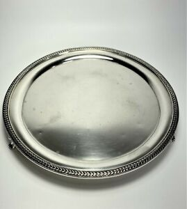 Heavy Coin Silver Salver Tray William Forbes Ball, Black Co New York c1773-1830