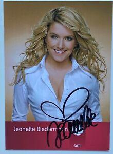Original sign.sexy Autogrammkarte Jeanette Biedermann Sängerin Popmusik SAT 1