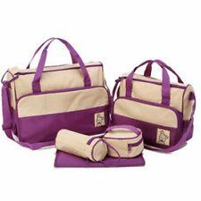 5pcs Baby Nappy Diaper Mummy Changing Bag Organiser Purple Shoulder Handbag
