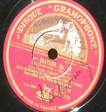 Single SIGNED by the 4 members Beethoven Loewenguth quartet 78 trs / 78 RPM VG++