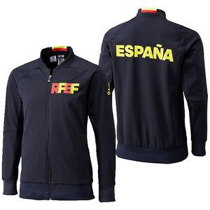 New Adidas Espana Spain RFEF Anthem Training Soccer Jacket World Cup EURO Black