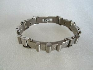 Original Men's Titanium Bracelet Brushed and Polished Finish 21cm