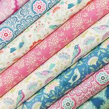 Tilda ~ récolte Tissu Pack/quilting couture turquoise à fleurs rose oiseau fleur