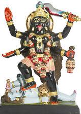 "15"" Black Marble Maa Kali Maha Kaali Statue idols murti carving sculpture India"