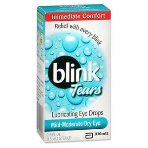 Blink Lubricating Eye Drops For Mild Moderate Dry Eye 0.5 oz