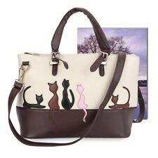 Women Lady Cartoon Animal Cat Handbag Tote Shoulder Messenger Crossbody Bag