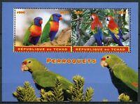 Chad 2018 CTO Parrots Macaws 2v M/S Perroquets Parrot Birds Stamps