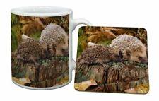 Mother and Baby Hedgehog Mug Coaster Christmas/birthday Gift Idea Ahe-5mc