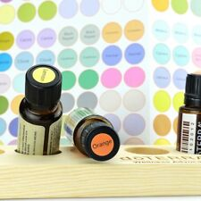 192Pcs Round Paper Sticker Labels for Essential Oil Bottle Cap Color Coded