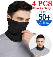 4 PCS Sun UV Protection Bandana Neck Gaiter Face Cover Scarf Headband Cycling
