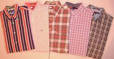 Lot of 5 TOMMY HILFIGER COLORBLOCK  BUTTON FRONT LARGE  Shirts Men T5955
