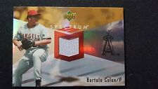 2007 Upper Deck Spectrum Bartolo Colon Game Used Jersey Angels 25/75
