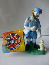 "4"" Emmett Kelly Jr. Clown Mailman Porcelain Flambro 1997"