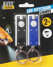 2 Pack Mini LED Camping Outdoor Flashlight Torch Portable KeyChain 3M Distance