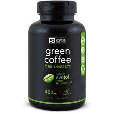 SVETOL Green Coffee Bean Extract, 90 Liquid Softgels with 400mg of
