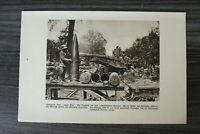 AA) Blatt 1.WK 1914-18 Riesen Geschütz LANGER MAX Artillerie Soldat (1920er) WWI