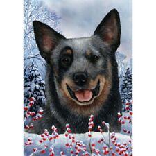 Winter Garden Flag - Blue Australian Cattle Dog 150721