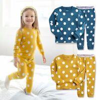 "Vaenait Baby Toddler Kids Girls Clothes Pajama Set ""Candy Blue Mango "" 12M-7T"
