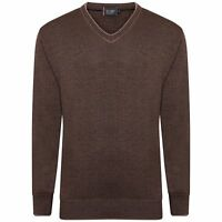 MENS WOOL LONG SLEEVE KNIT V NECK SOFT KNITTED CASUAL FORMAL JUMPER PULLOVER TOP