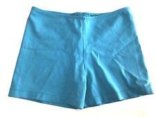 Vtg OMO NORMA KAMALI Hot Pants Spandex Bike Shorts Turqoise Bright Blue XS S