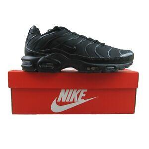 Nike Air Max Plus TN Triple Black Running Shoes Size 12 Mens NEW 604133-050