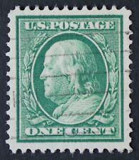 U.S. Used #331 1c Franklin, XF - Superb Jumbo. Horizontal Cancel. A Gem!