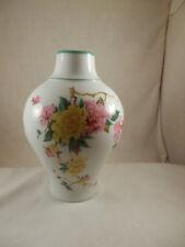 "Vintage Gold Crown E & R Kaiser W Germany Peking Porcelain Vase Hand Painted 8"""