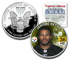 JEROME BETTIS 2006 American Silver Eagle Dollar 1 oz US Colorized Coin STEELERS
