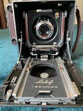 Linhoff Technika 4X5 Large Format Film Camera (Red) w/ SK Angulon 6,8 90mm case