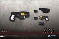 """ZYTOYS X26 Taser Black 1/6 Pistol Assembled Gun Model F 12"""" Action Figure Toys"""