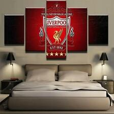EPL 5 PANEL LIVERPOOL CANVAS  WALL ART  BRAND NEW