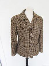 AQUASCUTUM Vintage Luxury Check Tartan Jacket Lambswool 10 12