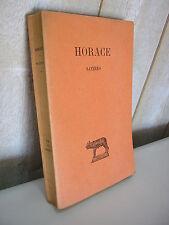 HORACE / SATIRES  Collection Budé