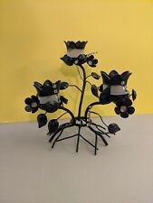 Vintage Partylite Votive/Tealight Metal Floral 10� Tall Candle holder