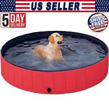 "63"" Outdoor Pet Dog Pool Pvc Foldable Kids Swimming Pool Collapsible Bathing Tub"