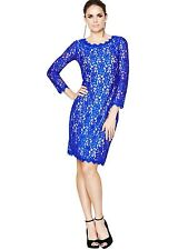 Lace Crew Neck Wiggle, Pencil Formal Dresses for Women