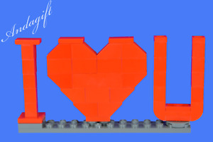 LEGO NEW GIFT LEGO HEART I love you with instructions valentines