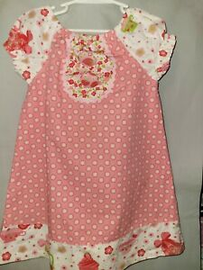 JELLY THE PUG Boutique Toddler Girl Dress 4T Short Sleeves Multicolored Floral